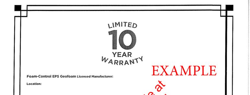 GeoFoam-Warranty
