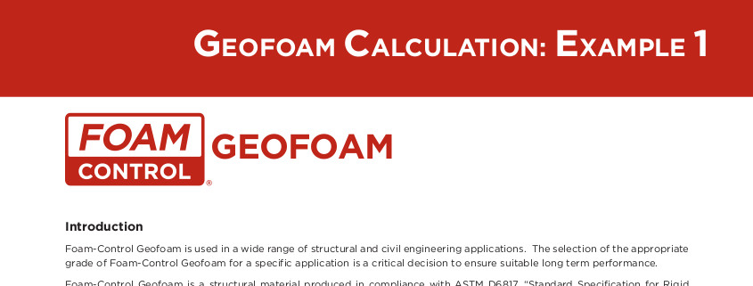 Geofoam Calculatio Example 1