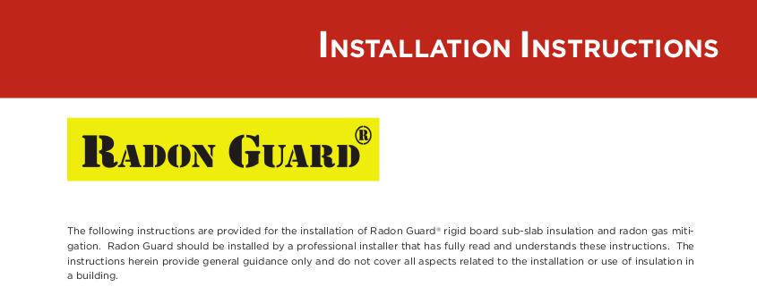 radon guard instal